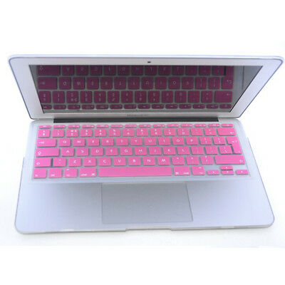 Pink UK EU model New Silicone Keyboard Skin Cover For MacBook Pro 15""