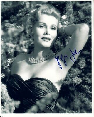 ZSA ZSA GABOR hand-signed BEAUTIFUL YOUNG 8x10 GLAMOUR PORTRAIT w/ uacc rd COA