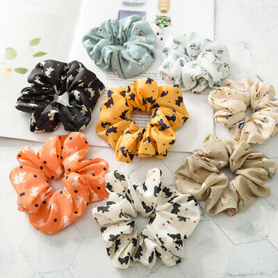 Women's Korean Elastic Hair Rope Ring Tie Scrunchie Ponytail Holder Hair Band