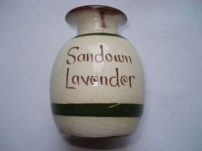 Scarce C1920S Vintage Sandown Lavender Torquay Ware Perfume Bottle