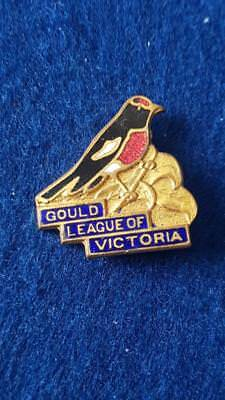 V Rare Vintage Gould League Bird Lovers Vic Robin Redbreast Members Badge C1930