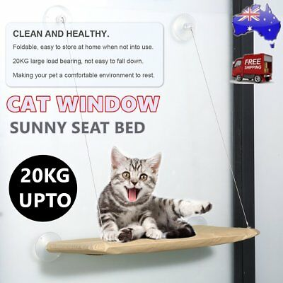 NEW Cat Window Bed Swing Sunny Seat Pet Nest Wall Home Hammock Cover Washable BU