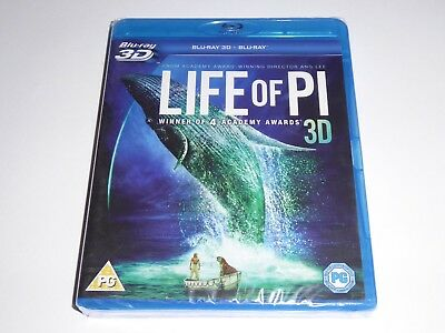 Life Of Pi 3D - NEW / SEALED GENUINE UK BLU-RAY 3D + 2D - The Life Of Pie