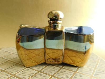 Boxed French GUERLAIN COQUE D'OR Baccarat Glass Perfume Bottle c1950s