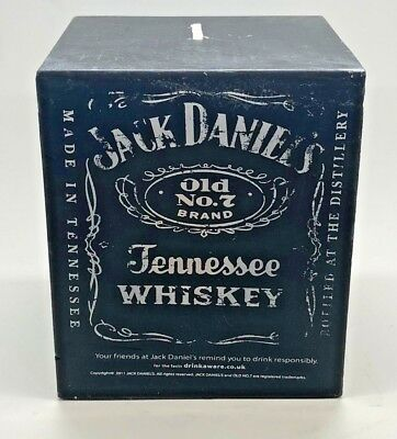 Official Jack Daniels Unlit Cube / Square Candle - Old No7 Daniel's - Brand New