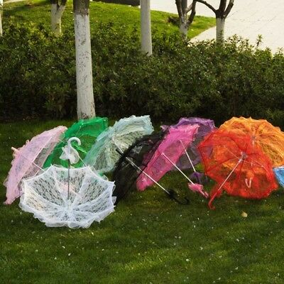 Lace Umbrella Cotton Embroidery Lace Parasol Umbrella Wedding Decorations AU