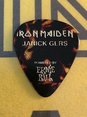 Iron Maiden: Janick Gers Guitar Pick / Plectrum 'Legacy Of The Beast' Tour 2018
