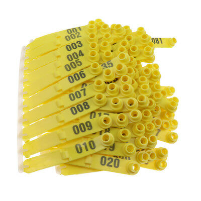 100Pcs Ear Tags Goat Sheep Pig Cattle Plastic Livestock Ear Tag Number Tags