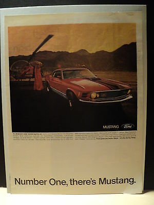 Vintage Magazine Advertisement - FORD MUSTANG - 1970 Mustang Mach 1