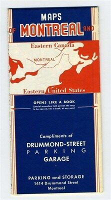 Maps Montreal Eastern Canada United States 1950's Drummond Street Parking Garage