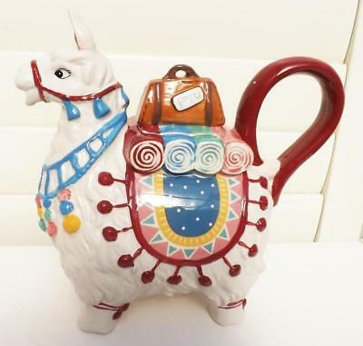 Gorgeous Llama Teapot *collectable Ceramic* Blue Sky  New Design Free Post