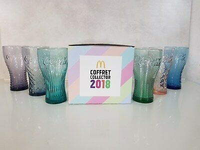 Collection de 6 Verres Coca-Cola Été McDonalds 2018
