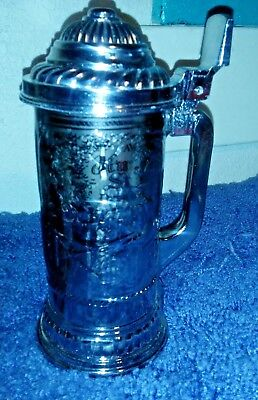 Vintage Avon Collectible Hunters Stein w/ Full Deep Woods Aftershave