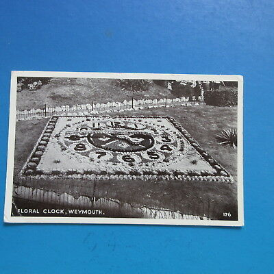 Old 1952,  Postcard of The Floral Clock,  Weymouth.