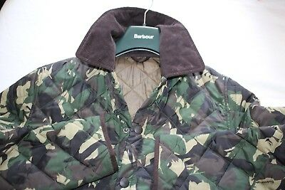 """Men's Genuine Barbour Highfield Lightly Padded & Quilted Jacket Uk S / M 21"""" P2P"""