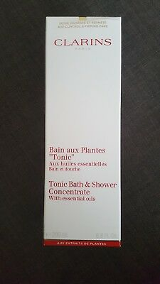 Clarins Tonic Bath And Shower Concentrate 200ml NEW in box