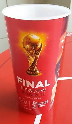 Sammler Becher / Coca Cola Cup 2018 FIFA World FINAL FRANCE - CROATIA Frankreich