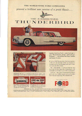 Ford Thunderbird print ad 1958, 'The 4-passenger'