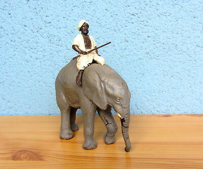 Lineol Elefant mit Mahout / elephant with mahout