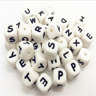 Kids Silicone Teething Toys Teething Necklace Alphabet Letter Toy 8C