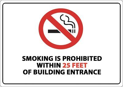 Zing No Smoking Sign, Within 25 ft., 10inH, - 2870S