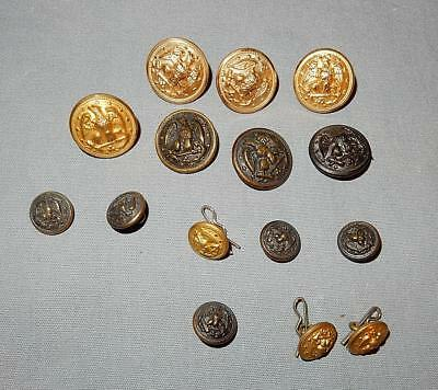 WWII  US NAVAL NAVY USN BUTTON SUPERIOR QUALITY, WATERBURY - 1940's-50's