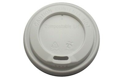 100 White 10/12/16oz Sip Lid for Kraft Ripple Coffee Tea Cups Coffee Cups Lids