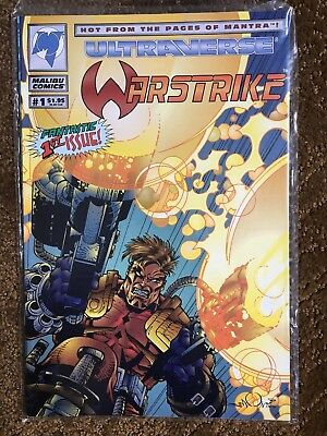 Ultraverse Warstrike #1 First Issue near mint condition in plastic wrap