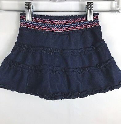 TCP THE CHILDREN'S PLACE Girl's Blue Tiered Skirt Skort Size 18 Months EUC