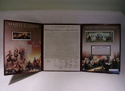 1776 Declaration of Independence Colorized Currency and Stamp Commemorative