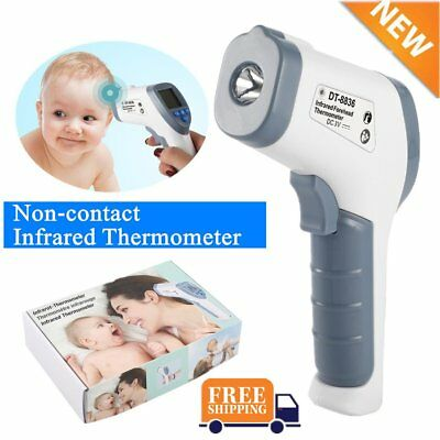Digital IR Infrared Thermometer Baby Forehead LCD Non-Contact Temperature BU