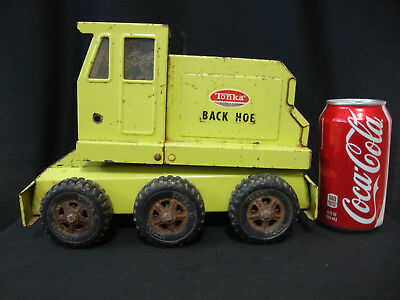 Vintage Green Tonka Back Hoe Pressed Steel Toy - AS IS For Parts