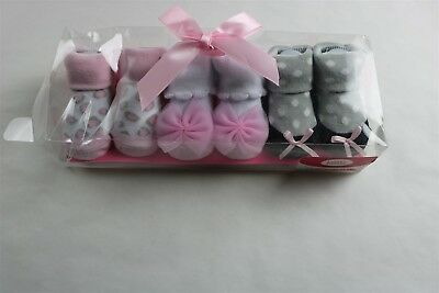 Lot of 3 Pairs LUVABLE FRIENDS Baby Girls Socks PINK MULTI 0-9 Months NEW