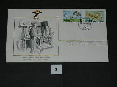 FDC,First,Day,of,Issue,Antigua,ANTIGUA,Flugzeug,Aircraft(3)