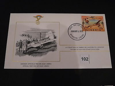 FDC,First,Day,of,Issue,LIBERIA,Flugzeug,Aircraft(102)