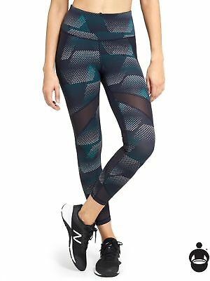 Athleta New $108 Constellation Blue Kinetic Stealth Mesh 7/8  Tight  S