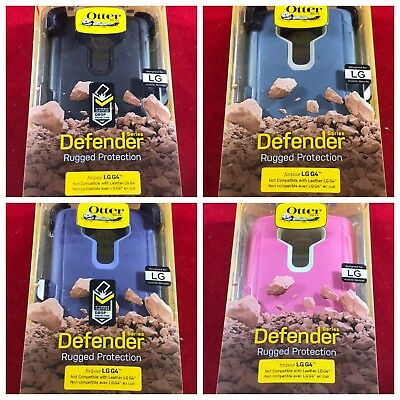 NEW LG G4 OEM OtterBox Defender Case-Pink/Blue/Purple/Black/Red w/ Holster Clip