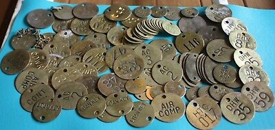 Vintage Brass Tags - Lot of 95 Misc. Tags Steampunk Repurpose Authentic