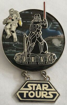 DARTH VADER + SKYTROOPER Star Tours The Adventure Continues Disney Star Wars Pin