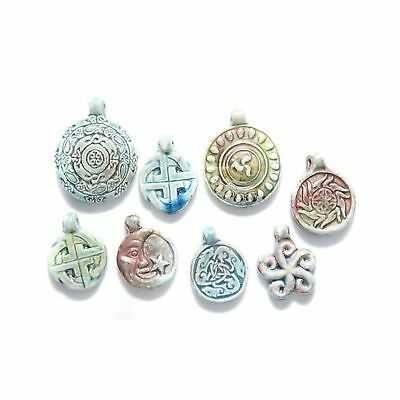 Shipwreck Beads Peruvian Hand Crafted Ceramic Raku Glazed Pendants, Assorted ...