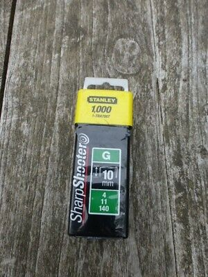 Stanley Staple 10mm 1000pc Type G Sharpshooter Fits Novus & Rapesco 1-TRA706T