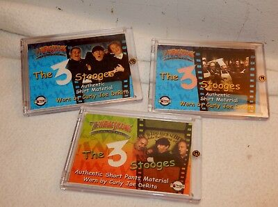 3 Curly 2005 Breygent The Three Stooges Shirt / Shorts Material Cards