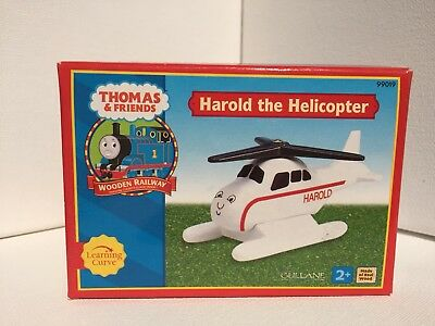 New 2001 Learning Curve Gullane Wooden Thomas Train Harold the Helicopter Figure