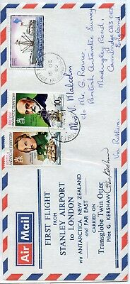 BRITISH ANTARCTIC TERR./FALKLAND ISLANDS--First Flight Cover in 1980