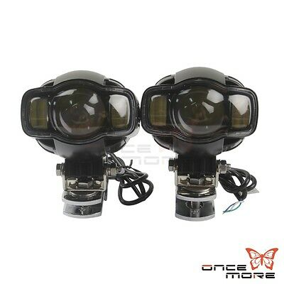 "Universal 1-1/8"" Engine Guard Mount Fog Light Spot Light With Bracket For Harley"