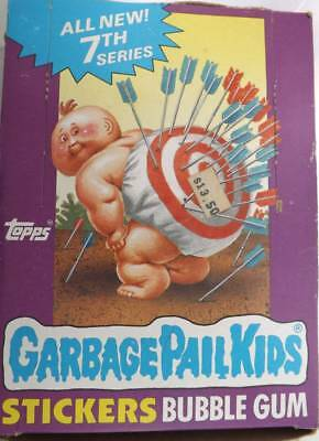 1987 Topps Garbage Pail Kids 7th Series Wax Box 48 Unopened Packs Stickers Gum