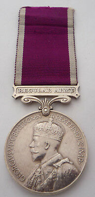 Army Long Service And Good Conduct Medal Geo V Regular Army Bar -Essex Regiment
