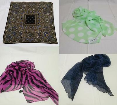 Vintage Lotto 4 Foulard Sciarpine Donna 100% Seta Made in Italy