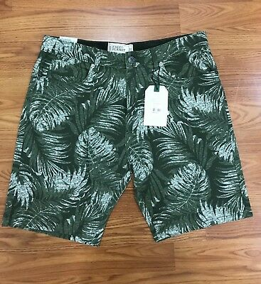 Mens Free Planet Brand Cotton Striped Shorts New With Tags Msrp