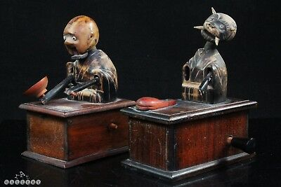 Antique Japanese Wooden Articulated Kobe Toys